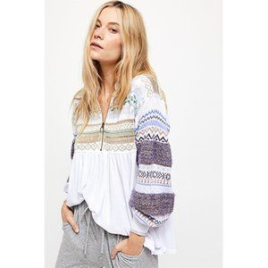 NWT Free People Cabin Fever Sweater White Medium